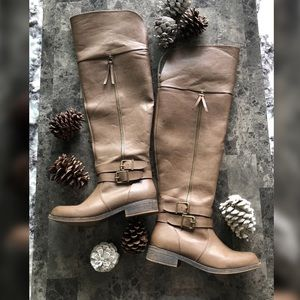JustFab Brown Over the Knee Boots